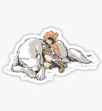 Petite Rouge en le Loup  Sticker