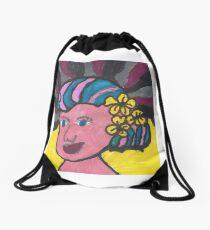 She is a hit! Drawstring Bag