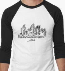 Atlanta graphic scribble skyline  Men's Baseball ¾ T-Shirt