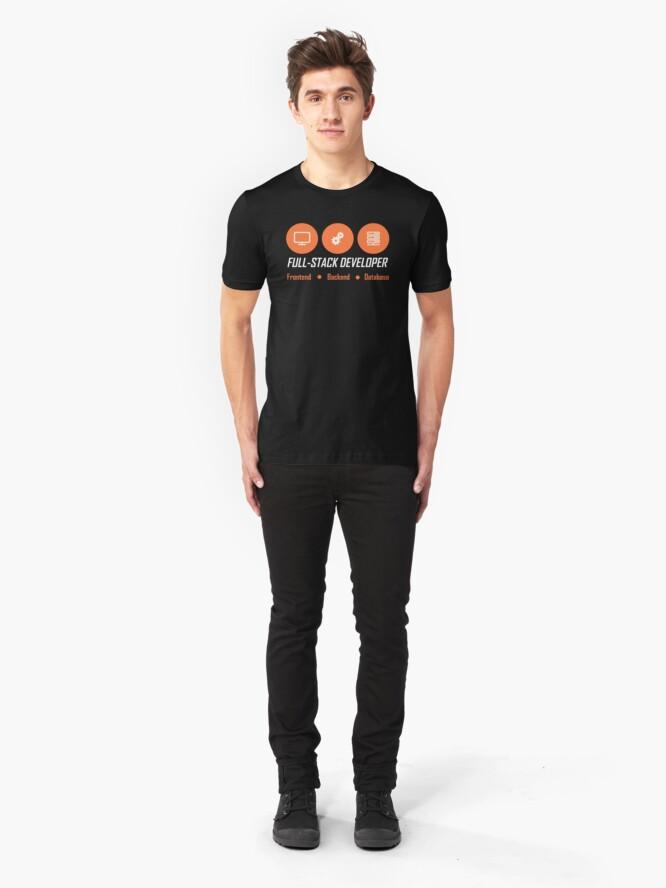 Vista alternativa de Camiseta ajustada fullstack developer full-stack developer
