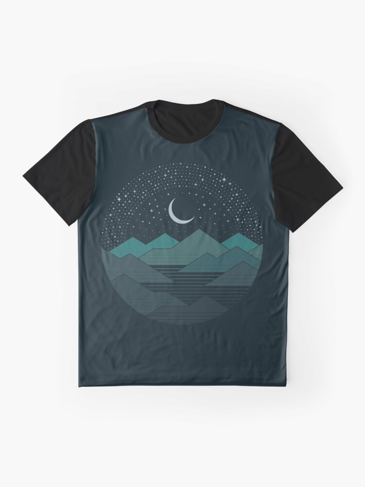 Alternate view of Between The Mountains And The Stars Graphic T-Shirt