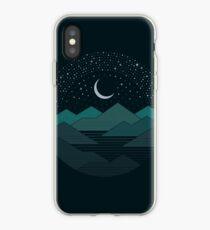 Entre les montagnes et les étoiles Coque et skin iPhone