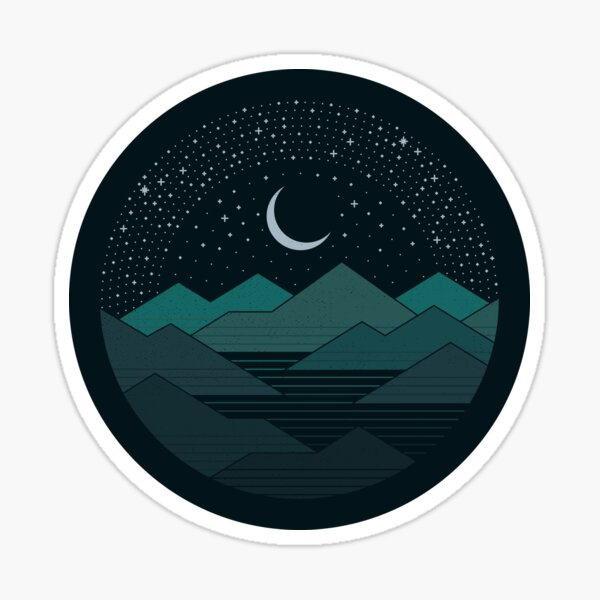 Between The Mountains And The Stars Sticker