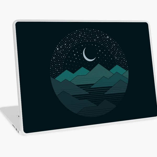 Between The Mountains And The Stars Laptop Skin