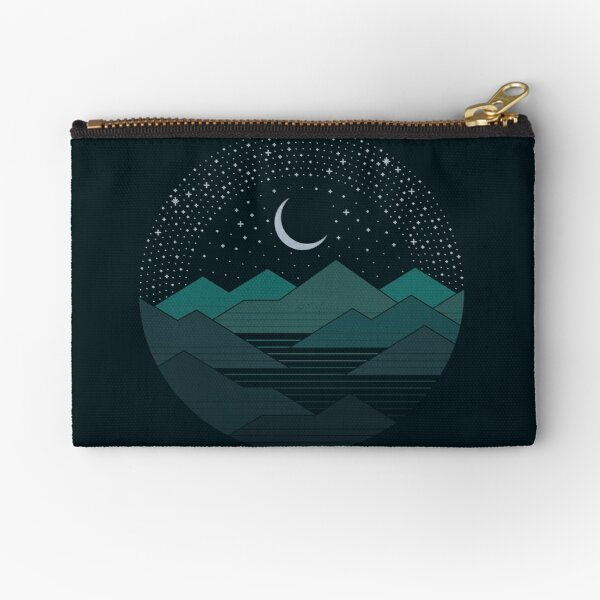 Between The Mountains And The Stars Zipper Pouch
