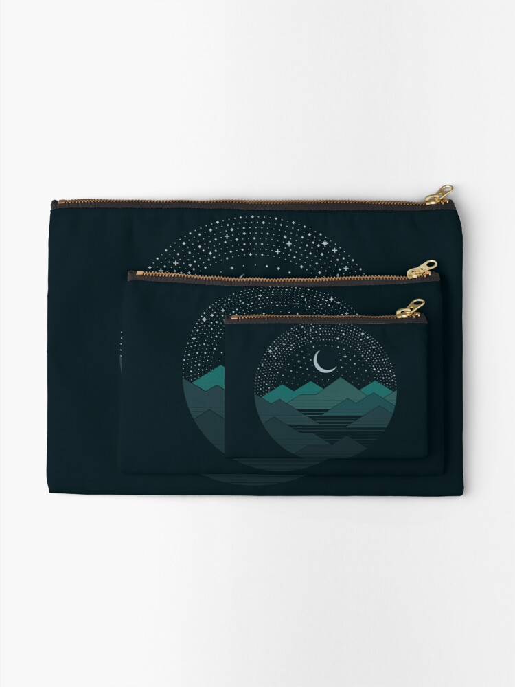 Alternate view of Between The Mountains And The Stars Zipper Pouch