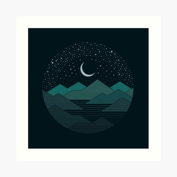 Between The Mountains And The Stars Art Print