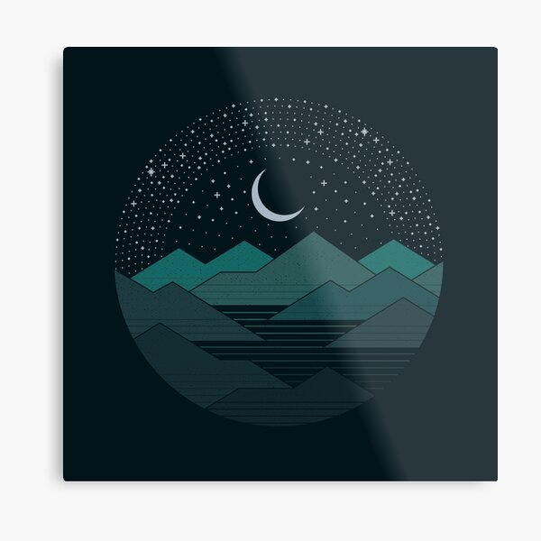 Between The Mountains And The Stars Metal Print