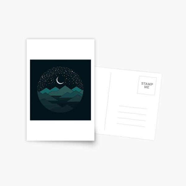 Zwischen den Bergen und den Sternen Postkarte
