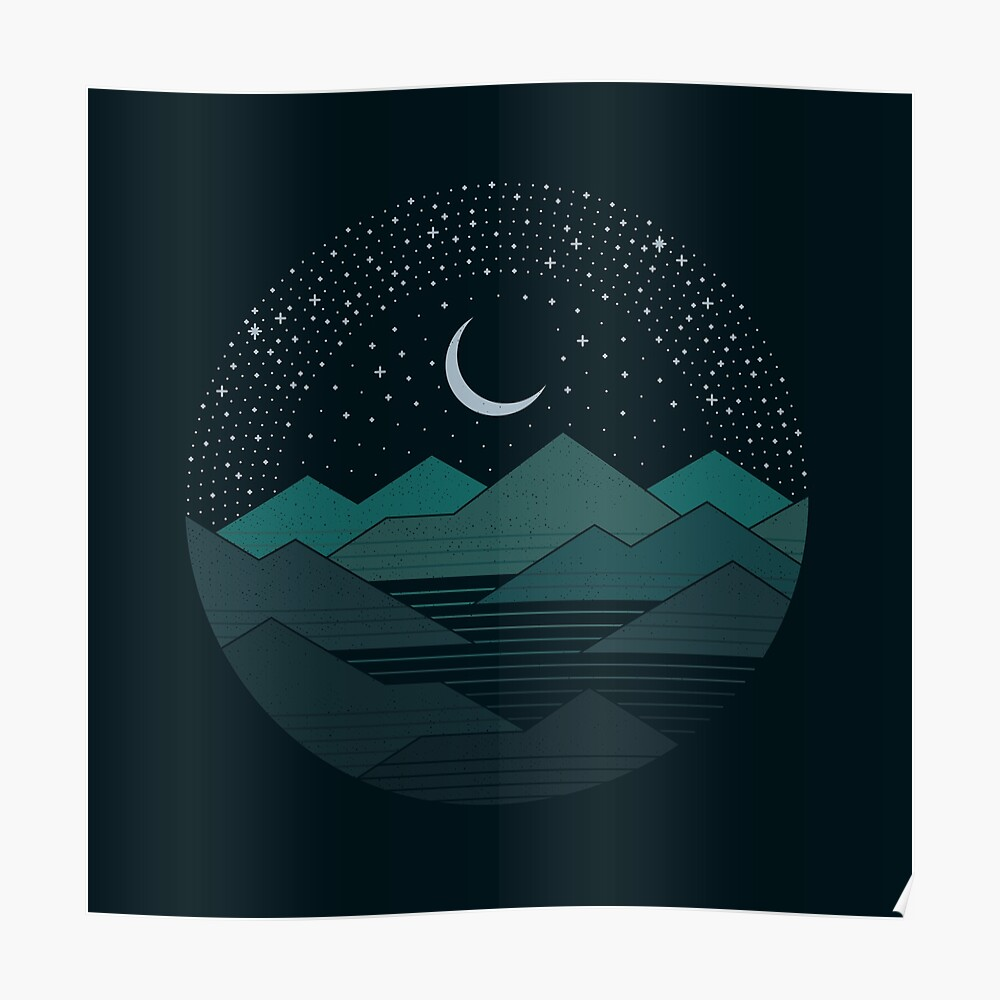 Between The Mountains And The Stars Poster