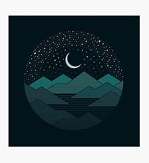 Lámina fotográfica Entre las montañas y las estrellas