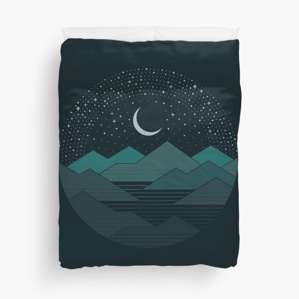 Between The Mountains And The Stars Duvet Cover