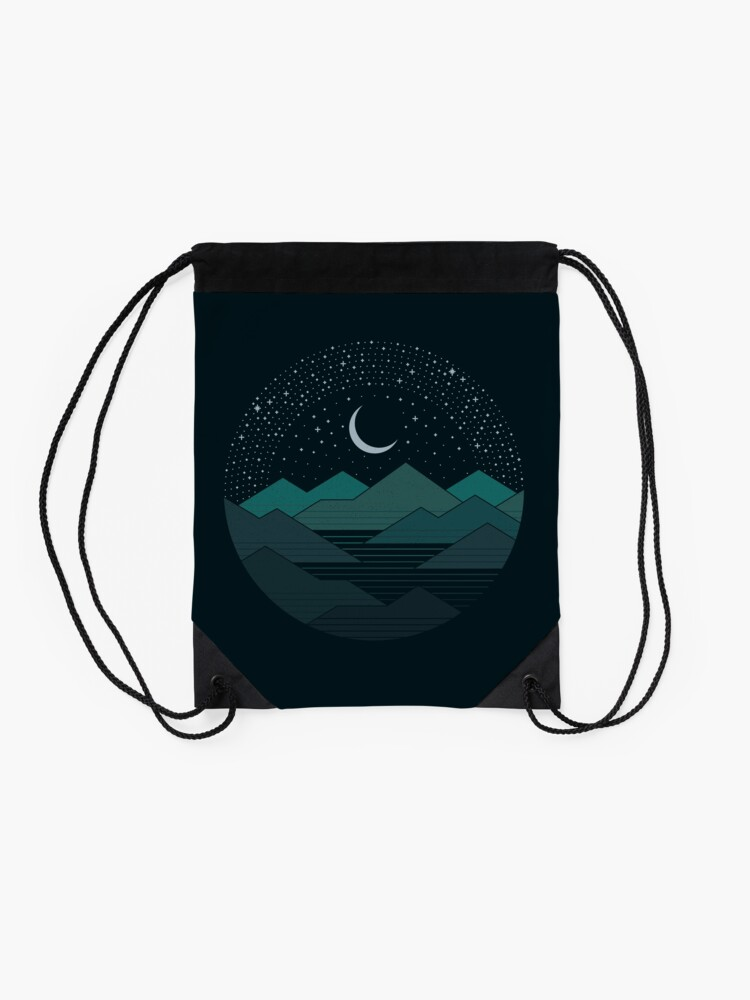 Alternate view of Between The Mountains And The Stars Drawstring Bag
