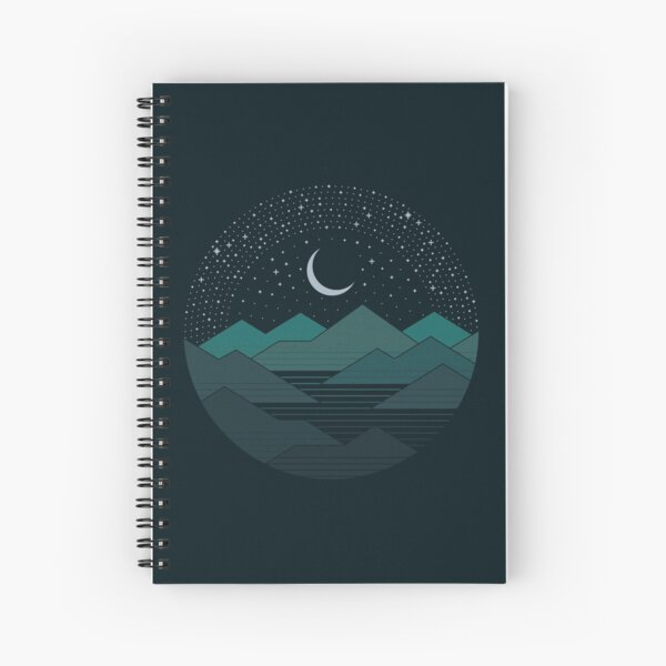 Between The Mountains And The Stars Spiral Notebook