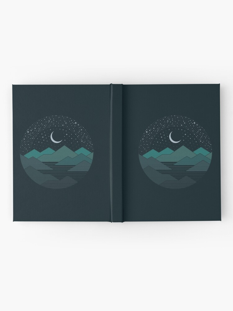 Alternate view of Between The Mountains And The Stars Hardcover Journal