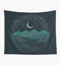 Between The Mountains And The Stars Wall Tapestry