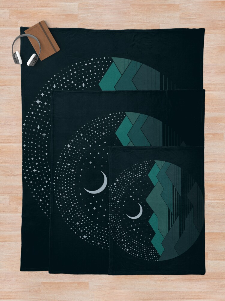 Alternate view of Between The Mountains And The Stars Throw Blanket
