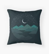 Between The Mountains And The Stars Floor Pillow