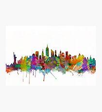 Lámina fotográfica Skyline de la ciudad de Nueva York