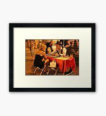 Tarot in Trastevere Framed Print
