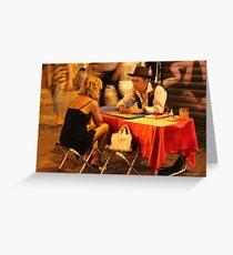 Tarot in Trastevere Greeting Card