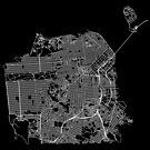 San Francisco, USA Street Network Map Graphic by ramiro