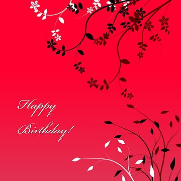 Happy birthday card floral by Anteia