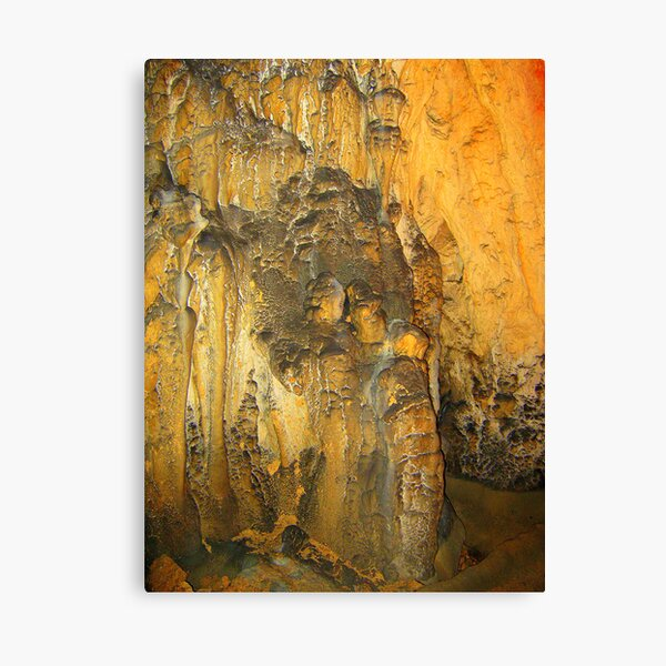 COUPLE IN LOVE - CAVE SCULPTURE Canvas Print