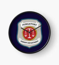 Wynonna Earp - Purgatory Sheriff Department Patch Clock