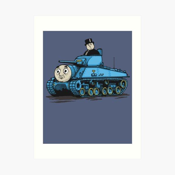 Thomas der Panzer Kunstdruck