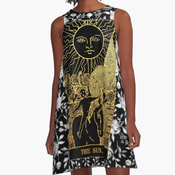Tarot Card Deck Tarot Love Psychic Reading Oracle Cards Mini Skirt Goth Dress Gothic Dress Pagan Dress Witch Dress Wiccan Clothing
