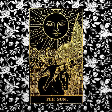 Floral Tarot Print - The Sun by annaleebeer