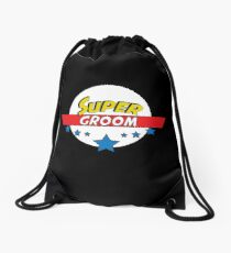 Super groom, #groom  Drawstring Bag