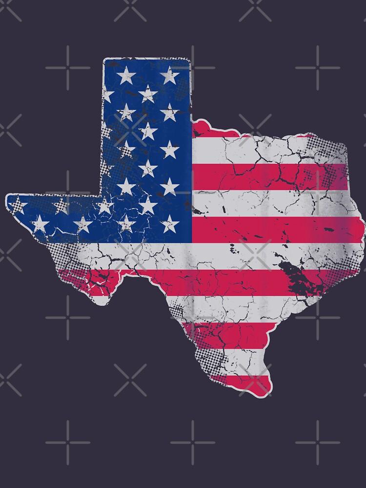 Texas American Flag by frittata