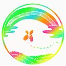 Colorful Art Rainbow Design Gift Idea by werdanepo