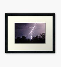 Staccato Lightning west of Warwick Framed Print