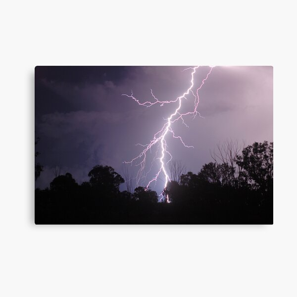 Staccato Lightning west of Warwick Canvas Print