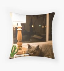 Late Night Working (2009) Throw Pillow