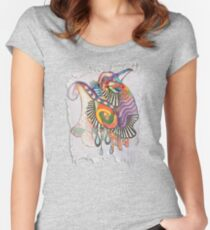 Mind-drawing - Doodling-design Women's Fitted Scoop T-Shirt