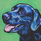 «Divertido Labrador Retriever perro brillante colorido Pop Art» de bentnotbroken11