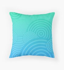 Beach Circles Throw Pillow