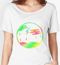 Colorful Rainy Days Design Gift Idea Women's Relaxed Fit T-Shirt
