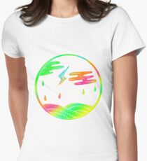 Colorful Rainy Days Design Gift Idea Women's Fitted T-Shirt