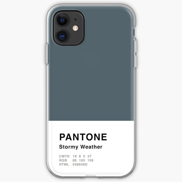 Stormy Weather Grey Pantone Einfaches Design iPhone Flexible Hülle