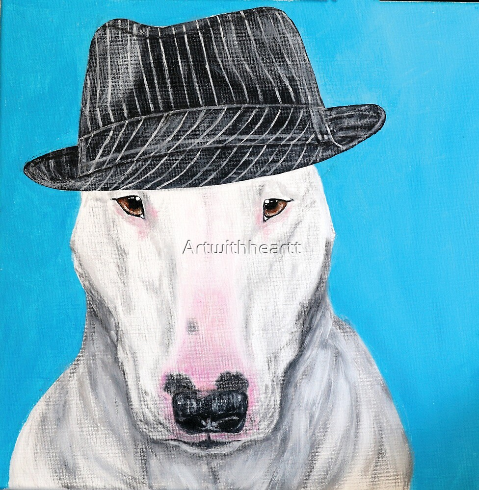 Bugsy bull terrier  by Artwithheartt