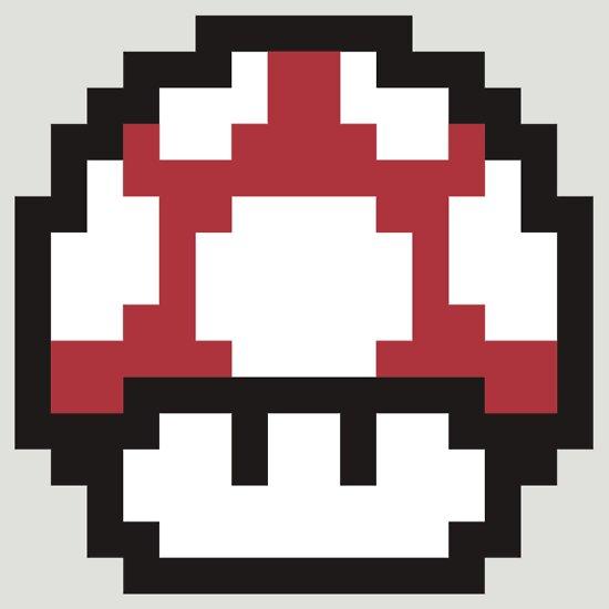 TShirtGifter presents: 8-Bit Mario Mushroom (Red)
