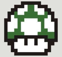 8-Bit Mario Mushroom (Green)