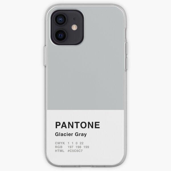 Glacier Gray Pantone Simple Design iPhone Soft Case