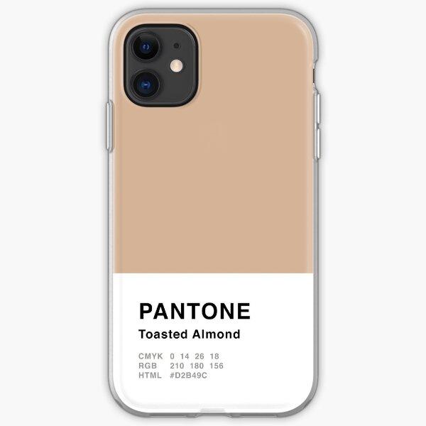 Geröstete Mandel Pantone Simple Design iPhone Flexible Hülle