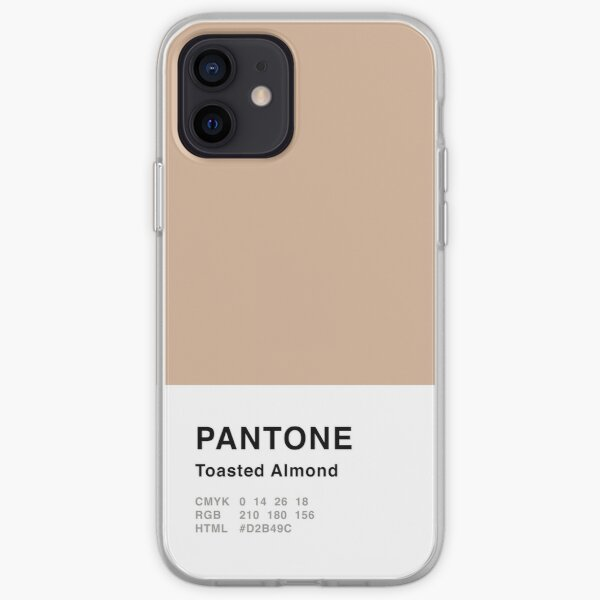 Toasted Almond Pantone Simple Design iPhone Soft Case
